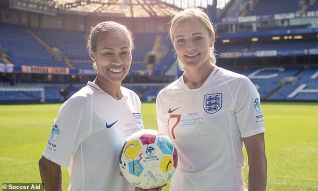 Rachel Yankey (L) and Katie Chapman are against mixed football being introduced for adults