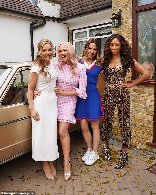 Just the four of us:Victoria, 45, declined to take part in the tour, with Mel B, Mel C, Emma Bunton and Geri Horner continuing as a foursome