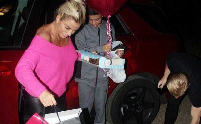 Katie Price Is Showered With Gifts From Her Children