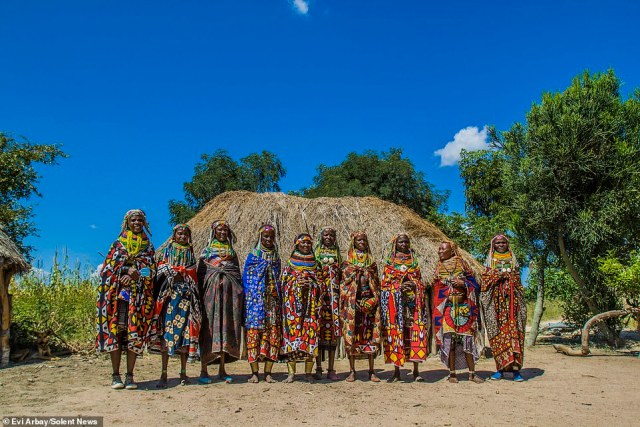 While the fashions of the Mwila are meant to be striking, they also serve important symbolic purposes, indicating the difference between girls and women