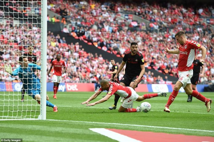 Purrington equalised for Charlton when he found the net from close range in the 35th minute of the game