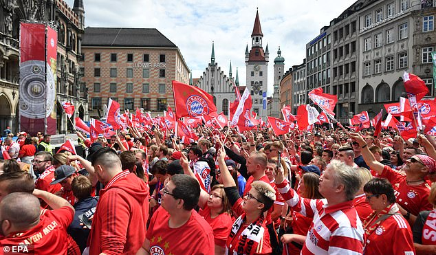 The famous historic centre of the city became a sea of red and white as thousands turned out