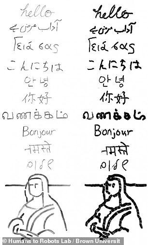 O robô aprendeu sozinho palavras de 10 idiomas diferentes, incluindo hindi, grego e inglês.