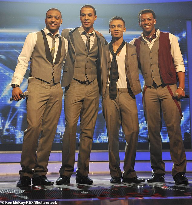 Success: JLS shot to fame on X Factor in 2008 after finishing runners-up to Alexandra Burke
