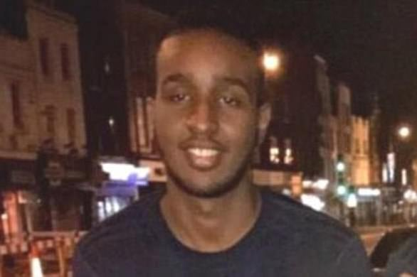 The aspiring accountant, Sadiq Adan Mohamed, (pictured) was found with serious stab wounds in Belsize Park, north London