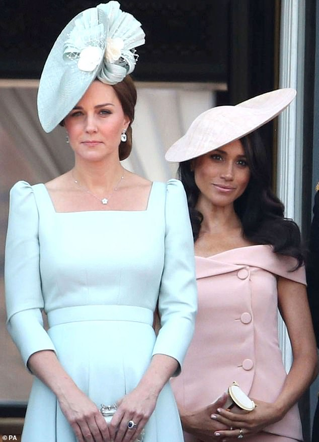 Meghan is currently on maternity leave following the birth of son Archie on 6 May. However reports suggest she could still make an appearance at Trooping the Colour next week. Kate took a break from her maternity leave with Louis to attend last year's event, pictured