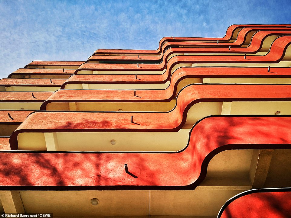 The curves of this retro building in Körmend, Hungary, make for an interesting effect in this photo by Richard Szerencsi