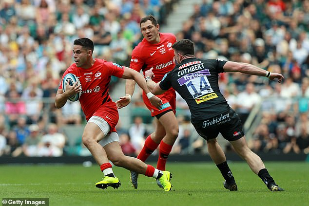 Sean Maitland grabbed one Sarace's five tries with the final score of the game for Sarries