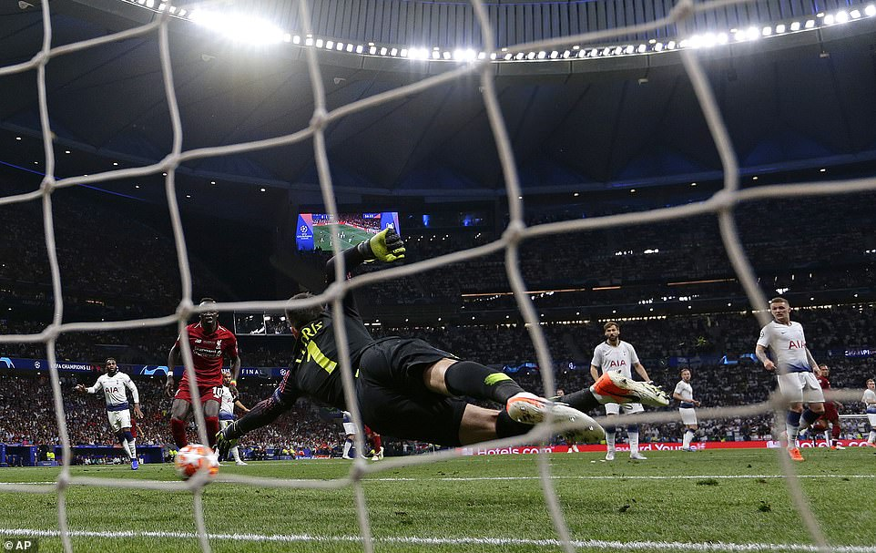Hugo Lloris couldn't reach the ball with his outstretched left palm as Liverpool secured the win after a lethargic display