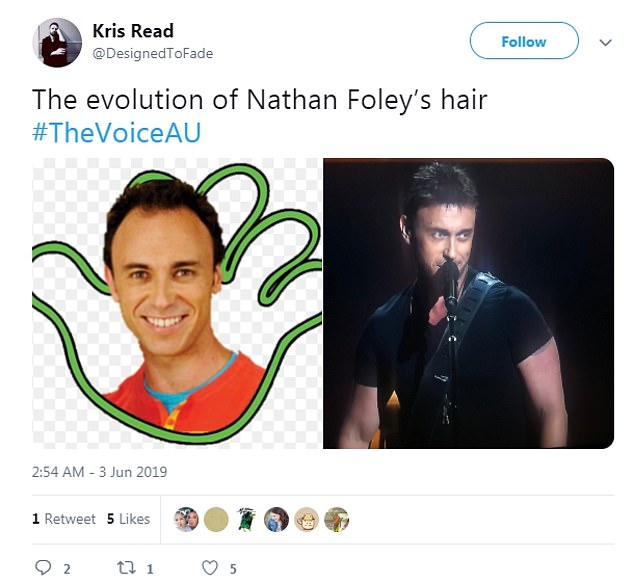 Hair for it: Fans couldn't help but notice the drastic change to his appearance, with many of them flocking to Twitter to comment on Nathan's new hairdo