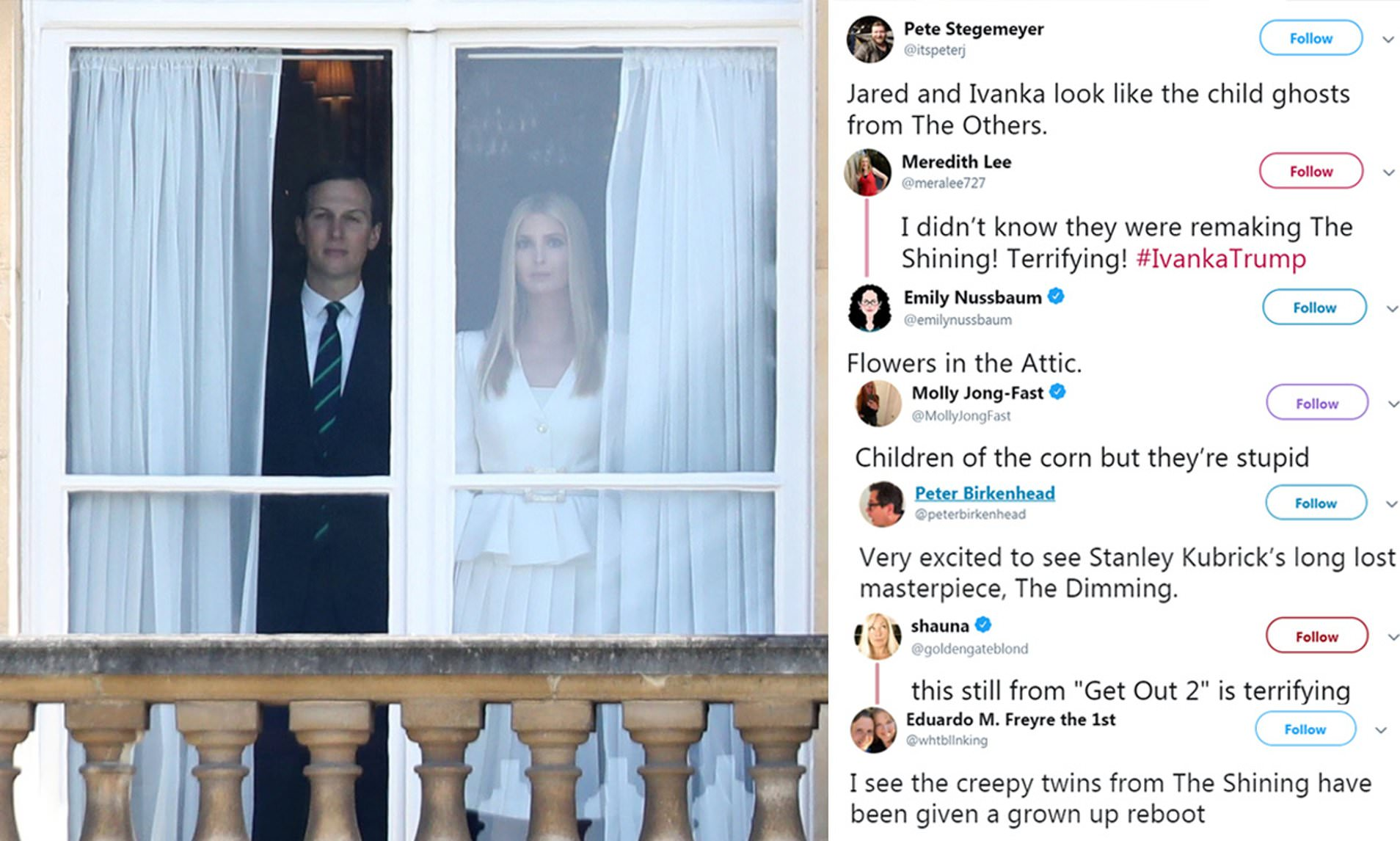 Eerie photo of Ivanka Trump and her husband Jared staring out of a ...