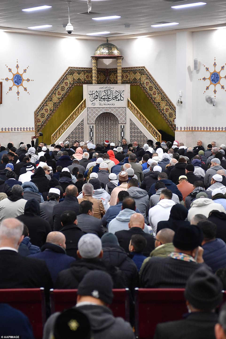 Muslim worshippers have crammed into a Sydney mosque to celebrate the end of Ramadan with the Eid-al-Fitr festival