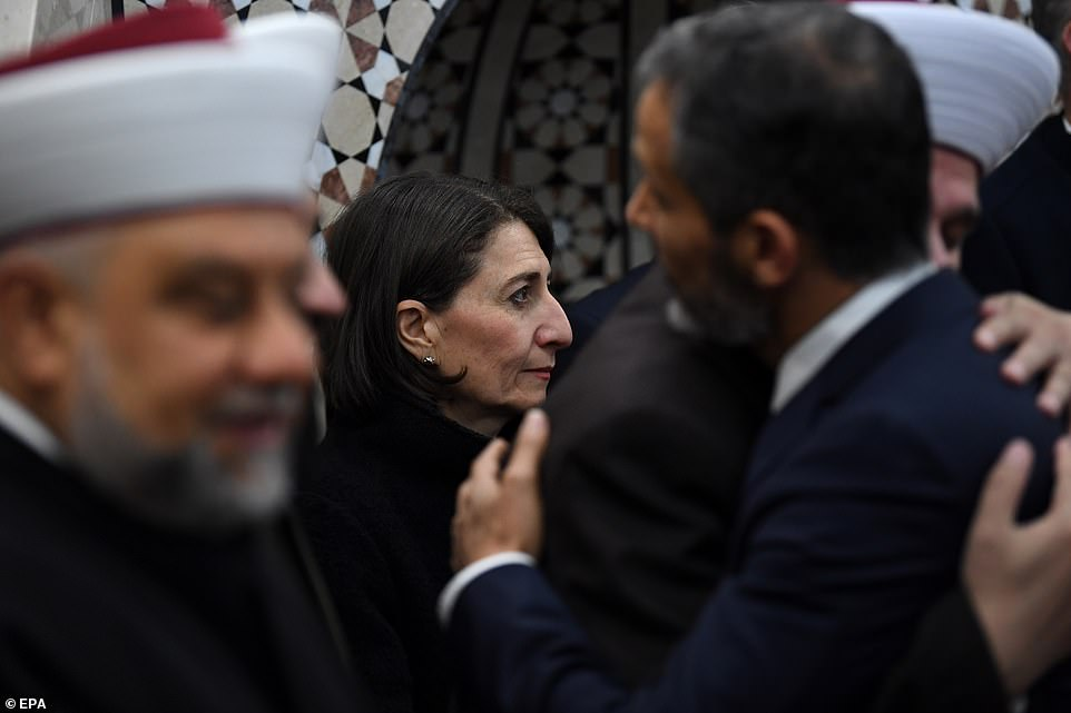 Ms Berejiklian appeared at the festival in Lakemba, in Sydney's west, to greet Muslims celebrating the end of Ramadan