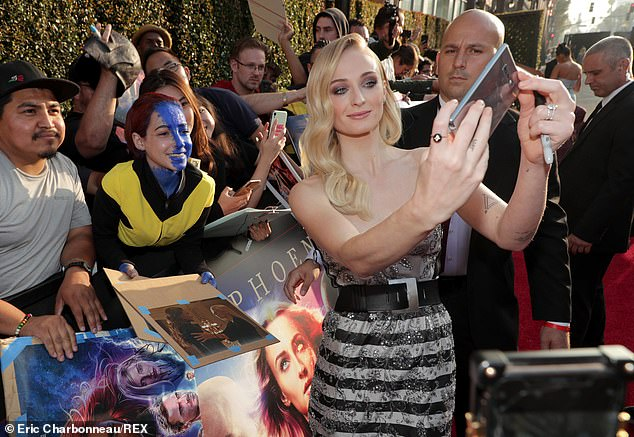 Generous star: Sophie took some time to mingle with fans