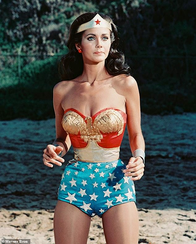 Iconic: One of Wonder Woman's most recognizable looks comes courtesy of Lynda Carter's 1975 to 1979 TV version of the Amazonian, above
