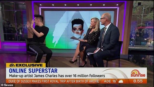 Thousands of fans outside:Last month, the Seven show shut down Sydney's Martin Place when they welcomed YouTube star James Charles into the studio last month