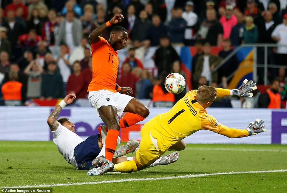 Promes followed up on a fantastic Pickford save which he had to make after John Stones slipped as the last man