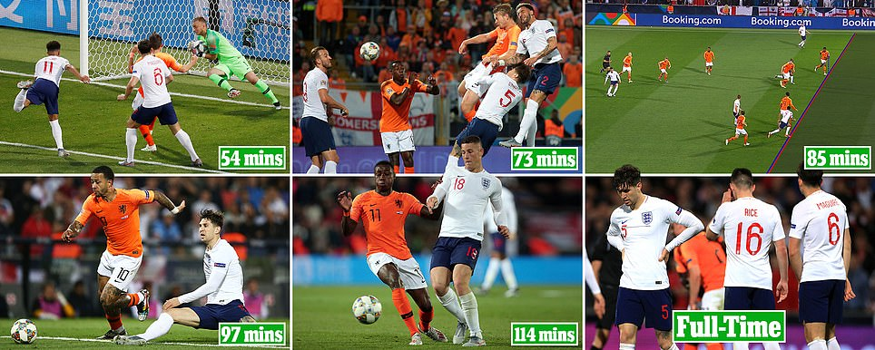 How England's Nations League hopes unravelled in 60 minutes on a disastrous night against