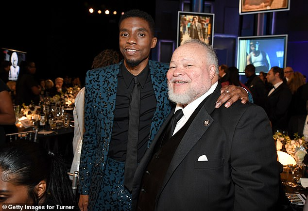 Good times: Chadwick Boseman shared the spotlight with Stephen Henderson