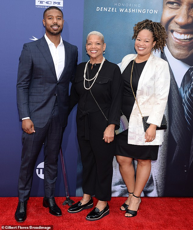 Family affair! Michael B. Jordan was joined by his mother Donna Jordan and sister Jamila Jordan
