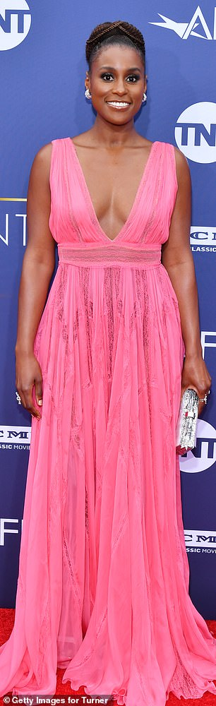 Pink lady! Issa hit a fashion high note in her hot pink frock