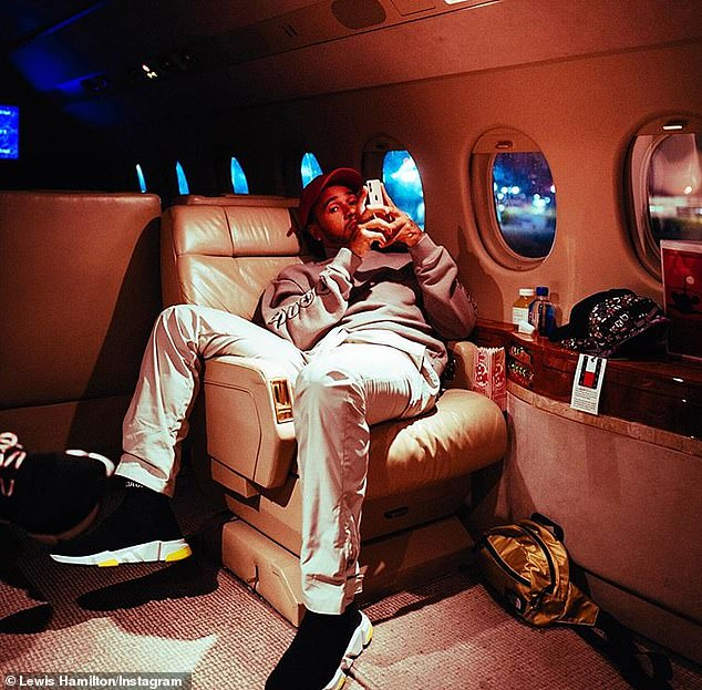 Hamilton, from Stevenage, regularly flaunts his lavish lifestyle online and has even created a page for his dogs to flaunt their's too. He is pictured on his private jet