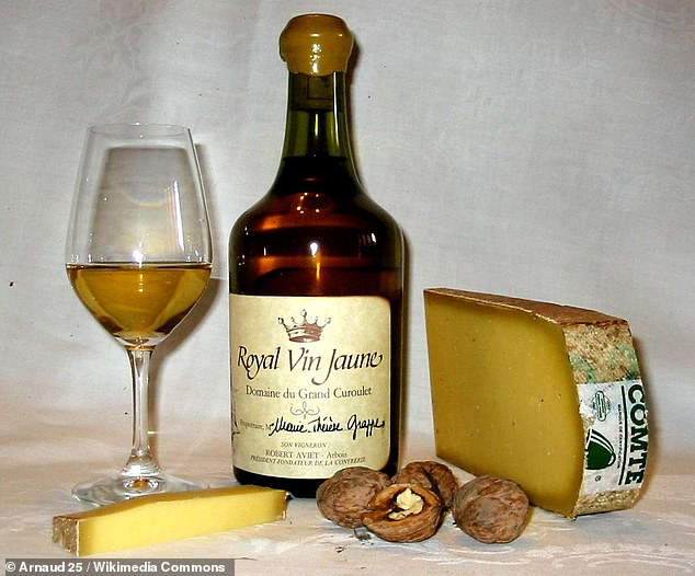 Savagnin Blanc is an ancient white wine grape from the sub-alpine regions of eastern France. Its most famous application is in two of France's most idiosyncratic wines, the Sherry-like Vin Jaune (pictured) and the sweet, concentrated Vin de Paille