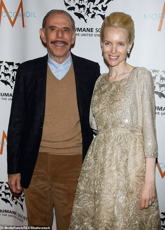 Berlin-born Peter(left) rose to fame in the 1960s, when he became known for his psychedelic art and pop art. He married Mary Baldwin (right) in 1997. Pictured together at the Humane Society of the United States to the Rescue Gala in 2013