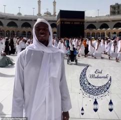 Pogba took to Instagram to wish his followers 'Eid Mubarak' to celebrate the end of Ramadan