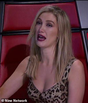 So moved: Delta Goodrem (pictured) was also in tears