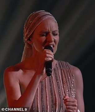 Upset: Delta, who chose to save Natasha over fellow singers Emma Sophina and Kimberley Bowden, started crying as she discussed how Natasha could inspire other cancer sufferers