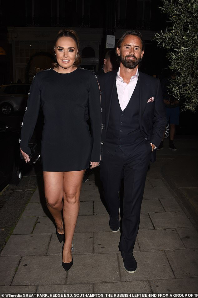 Tamara Ecclestone and her husband Jay Rutland proved they were completely smitten as they enjoyed a night out at Harry's Bar in West London on Tuesday