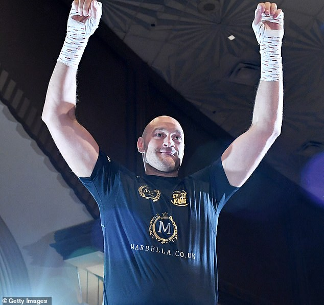 Tyson Fury Works Out Ahead Of '£10m Bout Against The