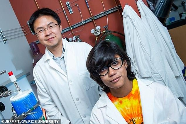 The first study of its kind has backed fears it's fuelling the rise in asthma and other lung illnesses. Pictured:Rice University geochemists Laurence Yeung and Asmita Banerjee