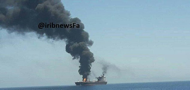 Another image released by Iran has shown that they have been targeted by torpedoes and magnetic mines