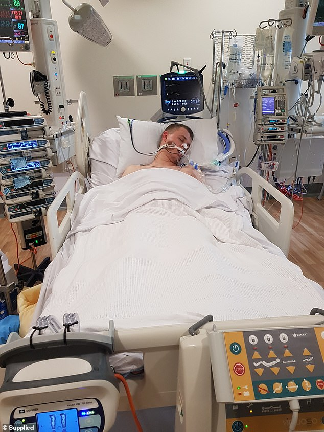 Jaxon (pictured) has been on life support twice after overdosing. He has also had numerous rehab stints due to his addiction
