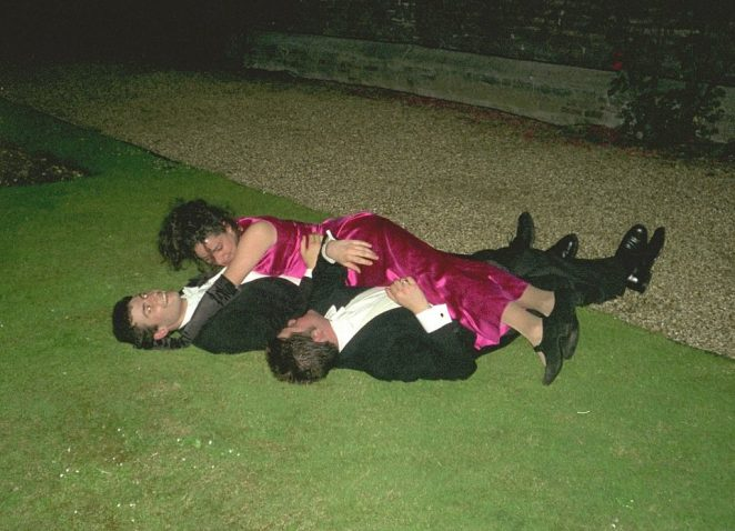 Revellers at Magdalen College May Ball in 1997 were pictured frolicking on the grass in their finery while students today were enjoying yoga at sunrise at the prestigious event