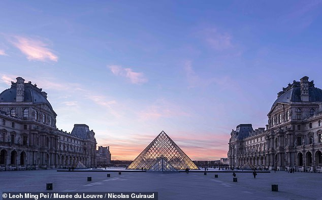 The virtual reality exhibition, 'Mona Lisa: Beyond the Glass', will be released to coincide with the opening of a new retrospective of da Vinci's artistic career at the Musée du Louvre, pictured, on 24 October 2019