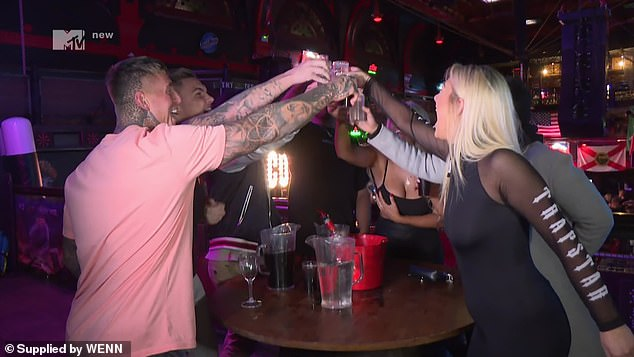 The cast ofGeordie Shore raised some shots during a night out in Cardiff in May