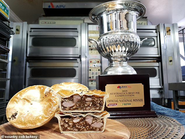 Country Cob Bakery in Victoria's Kyneton has claimed the prestigious title after spending three months creating a deliciouscaramelised pork and buttery pie
