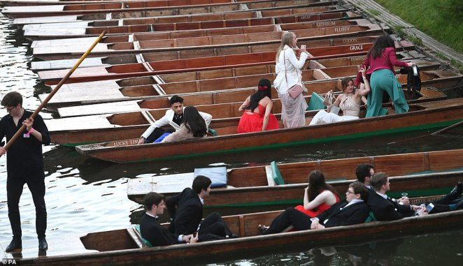 In what has become a time-honoured tradition, students enjoyed a relaxing punt down the River Cam following their big night of fun and games