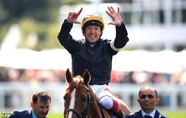 The 48-year-old jockey celebrates a seventh Gold Cup success at Royal Ascot on Thursday