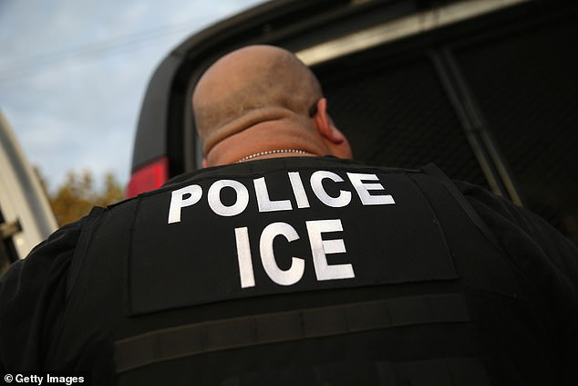 An ICE agent is seen in a file photo.The anticipated sweep is expected to be similar to operations that authorities have regularly done since 2003