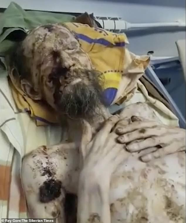 A Russian man, who only gave his named as Alexander, was found alive inside a brown bear den in eastern Russia along the border with Mongolia