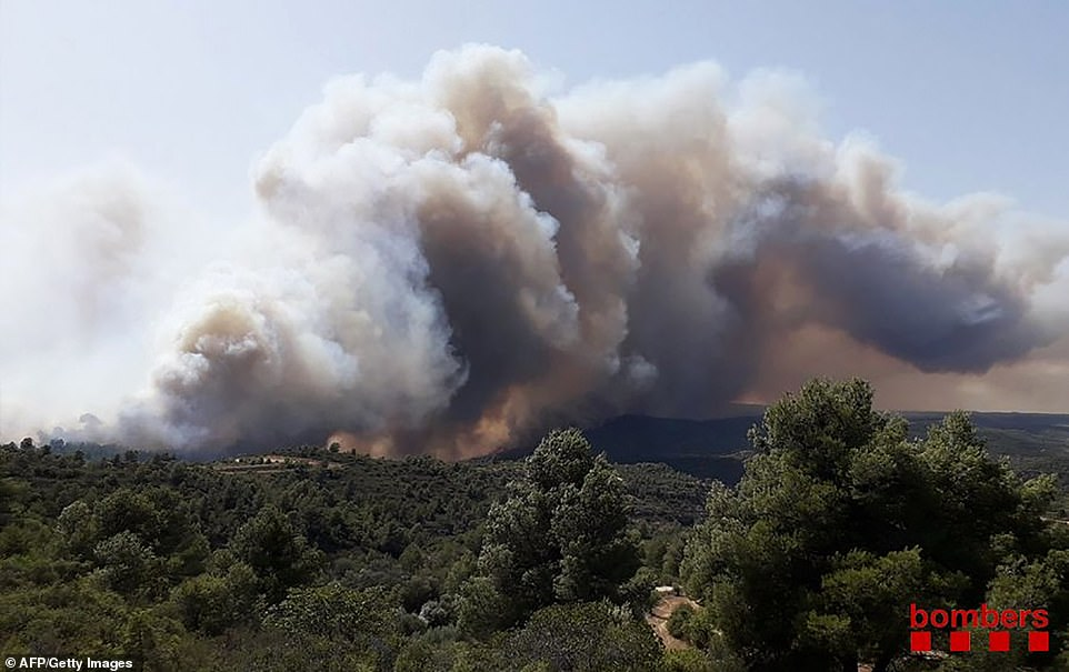 The blaze broke out on Wednesday afternoon in Torre del Espanol in the northeastern region of Catalonia and by Thursday it had destroyed more than 4,000 hectares (10,000 acres), the region's interior minister Miquel Buch said