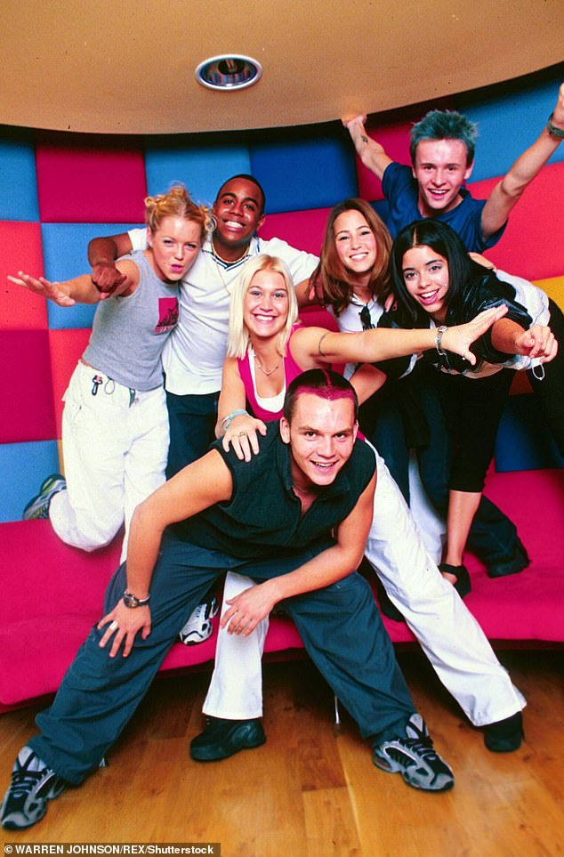 Bring it all back! Along with Rachel, S Club 7 consisted of Jo O'Meara, Tina Barrett, Paul Cattermole, Jon Lee, Bradley McIntosh and Hannah Spearritt (pictured in 1999)