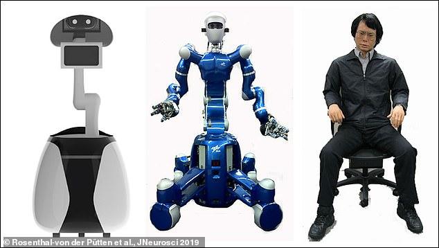 """Los científicos dirigidos por la Universidad de Cambridge mostraron a 21 personas robots que iban desde """"mecanoides"""" (izquierda y centro) como R2D2 en Star Wars a """"humanos artificiales"""" muy similares a nosotros (derecha)"""