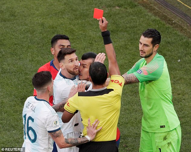 Lionel Messi has been handed a one-match ban for his red card against Chile in Copa America