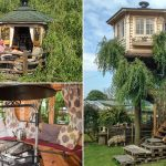 Tree Mendous Grandfather Of Six Builds 8 000 Dream Tree House In Back Garden With Stunning Views Daily Mail Online