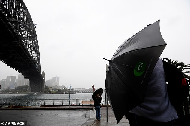 Winds in Sydney are expected to reach 50km/h and 45 km/h in Melbourne